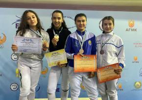 Определены победители ЧУз по фехтованию на шпагах